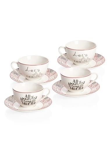 Bernardo Rhoda 4 Kişilik 8 Parça Porselen Çay Fincanı Takımı Renkli